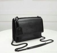 Sacs à main de concepteur Sunset Sacs à main de luxe Pursards Sacs pour femmes avec clé recouverte de cuir Sac à bandoulière à la chaîne longue chaîne