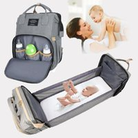 Luiertassen Draagbare Mama Backapck Folding Baby Crib Travel Bed Mom Big Pockets Rugzak Wandelwagen Bag Zwangerschap