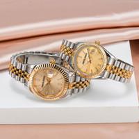 2021 Montre de luxe Мужские Автоматические механические Часы Серебряный Ремень Сапфировый Стекло Полная Нержавеющая Водонепроницаемая Наручные Часы Леди Золотые