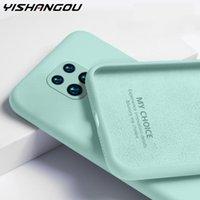 Capa de silicone líquido de cor de doces para Xiaomi Redmi Nota 9 8 Pro 9S 8T 7 9A 8A 7A Poco X3 NFC Silicone Silicone Tampa traseira