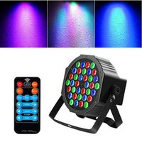 أحدث تصميم 36W 36-LED RGB أضواء النائية السيارات التحكم الصوت DMX512 عالية سطوع المرحلة الإضاءة مصغرة dj بار حزب جودة مصباح