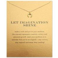 Kette Choker Halsketten mit Karte Gold Silber Halbmond Anhänger Halskette Für Mode Frauen Schmucklass Fantasie scheinen