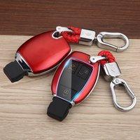 Удаленный ключ Крышка Cover Car KeyChain Оболочки Держатель Аксессуары Подходит для Benz GLC GL GLS SLK Viano Metris A B C E S G M V Class 2015-2019