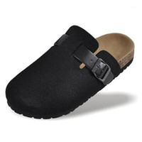 2020 nuove scarpe da uomo scarpe da sughero sandali casual sandali casuals flats slides maschile chiuso di piedi sandali fibbia unisex pantofole nero rosso plus size 441