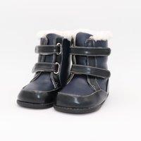Tipsietoes 2020 Новые Зимние Дети Босиком обувь Кожаные Сапоги Мартина Дети Снежные Мальчики Резина Мода Розовые кроссовки Y1116