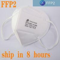 KN95 Ffp2 CE Mask Designer Face Mask N95 Respirador Filtro Anti-Nevoeiro Haze e Influenza Dustroof Filtragem 95% Reutilizável 5 Camada Protetora