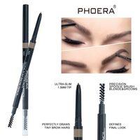 Photera-Augenbraue Bleistift Doppelkopf wasserdicht langlebige 1,5 mm ultra-slimische Tattoo-Augenbraue wasserdichte schwarze braune Augenbraue Bleistift