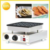 パンメーカーズマーズ商業ビスケットオランダのオランダのオランダのオランダのPoffertjes Grills Mini Pancakeワッフルメーカーベイカーマシン非棒25ホールパンケーキメーカー1