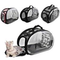 القط ناقلات، صناديق المنازل الفضاء حقيبة سفر الحيوانات الأليفة حقيبة جرو الكلب الكتف حزمة حقيبة الناقل انتقال كاناسي قابلة للطي الحيوانات الأليفة