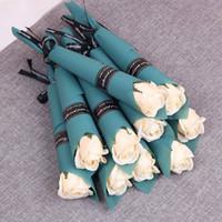 Fleur rose artificielle 8 styles savon fleur valentines anniversaire cadeau de Noël pour femmes décoration de mariage KKA3025