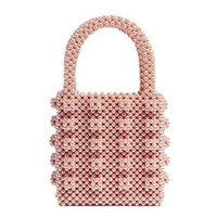 Bolsa de carteira frisada Handmade Pérola bolsa de luxo feminino noite de noite sacos para mulheres 2019 atacado
