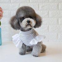 الصيف الكلب قميص القط جرو الكلب الملابس كلب صغير زي تي شيرت يوركي poodle pomeranian bichon frizy schnauzer pet الملابس 201031
