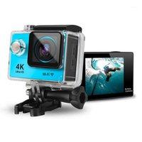 مصغرة الرياضة الكاميرا تحت الماء 30 متر ماء 4K فائقة hd dv واي فاي عمل كاميرا فيديو مسجل كاميرا في الهواء الطلق Helmet1