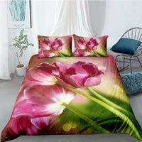 Tulip Bedging Set Set Size Размер Свежий Красивый 3D Пододеяльник Для Девочек Кинг Twin Полный Одноместный Двойной Уникальный Дизайн Кровать Set1
