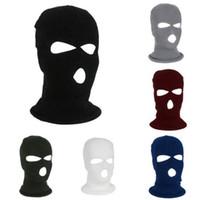 Ski Full Face Mask 3 Mask Winter Cap Hole BALACLAVA Hood Motorbike Moto Casco Full Face Caspetto Vendita calda