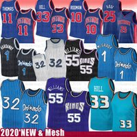 Jason 55 Williams Derrick 25 Rose Grant 33 Hill Basketball Jersey 32 Penny Tracy 1 Hardaway McGrady IsiaH 11 Dennis Thomas Rodman Retro Mesh