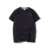 20s verão camisetas para homens tigre cabeça letra bordado camiseta Mens manga curta camiseta mulheres tops roupas s-2xl