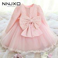 Weißes Kleid für Neugeborene Baby Mädchen 0-24 Monate Baby Kinder Taufkleider Taufe Kleider 1 2 Jahre alt Baby Kinder Kleidung 201204