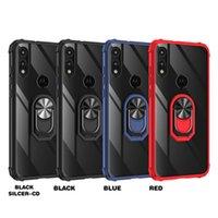 Akrylowy Przezroczysty Matowy Telefon Case dla Moto G Stylus E7 2020G Szybki E6 2019 G 5G Plus G8 Power Lite G9 Odtwórz Ring Stand