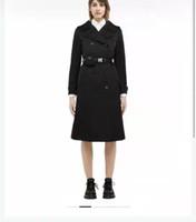 Frauen lange Jacke Windbretter mit Gürteleinstellung Mantel Frühling Herbst Jacken Kleid Slim Style Für Dame Trench-Mäntel mit Taschen