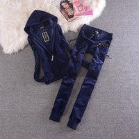 Velvet Tracksuit Two Piece Set Women' s Tracksuits Sexy ...