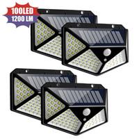 100 LED Güneş Işık Açık Güneş Lambası Powered Güneş Işığı Su Geçirmez PIR Hareket Sensörü Sokak Işık Bahçe Dekorasyon için