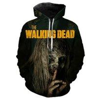 The Walking Dead imprimé Sweatshirts Sweatshirts Horror TV Drame Drame Pull Casual Pull Hommes Femmes Halloween Streetwear Sweats à capuche Lj201222