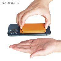 2020 New Leder Magssafe Brieftasche Kreditkarten Bargeld Taschenhalter Pouch für iPhone 12 Mini Pro max
