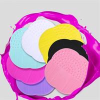 Escovas de maquiagem de silicone pincéis de limpeza almofada profissional lavar a placa de limpeza de lavagem de limpeza de escova cosmética wq349