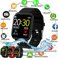 Novos relógios inteligentes À Prova D 'Água Fitness 116Pro Tracker Smart Watch Pressão de pressão arterial Contagem para iOS Andriod SmartWatch
