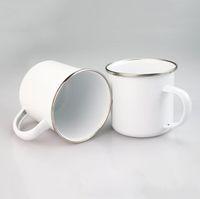 DIY Сублимационные эмаль кофе кемпинг кружка 12 унция стальная кружка прочные путешествия эмаль напитков кружки с ностальгией
