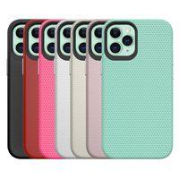 Triangle Texture Drop Protectionケースハイブリッド装甲堅牢なTPU PCケースiPhone 12 11 Pro Max XR XS x 8 7 6 Samsung S8 S9 S10 Plus S21注9 10 20 Ultra A30 A50 A70