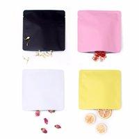 15x15cm de couleur différente blanche / jaune / rose / noire thermoscellable feuille d'aluminium feuille plate pavée ouverte haut package sac à aspirateur AHC4136