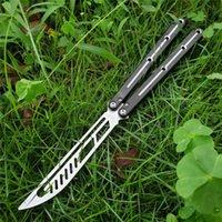 4 couleurs papillon Kraken Sea Monster Formateur Couteau Training Couteau non aiguë Jilt Couteau de couteau en aluminium Système de bague Cadeau de Noël