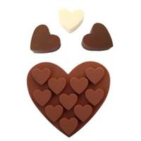 سيليكون قالب الكعكة 10 الوشارات القلب شكل الشوكولاته العفن الخبز diy قوالب المنزل المطبخ كعكة العفن CCD3425