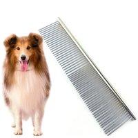 애완 동물 철근 빗 스테인레스 스틸 헤어 브러시 애완 동물 개와 고양이를위한 도구를 사용하여 엉킴 및 매듭 jk2012kd