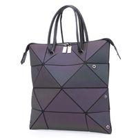 Lovevook Frauen Handtaschen Luxus Umhängetasche Designer 2020 Faltbare Taschen Leuchttasche mit großer Kapazität geometrisch
