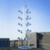 Tubo reto Bongo de vidro bongo tigela de vidro ou quartzo pregos de pregas de exibição 16 pcs 14.5 articulação feminina LXMD20102