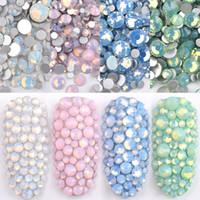 1 Pack Multi Größe SS4-SS20 Opal Nagel Rhinestones Flacher Boden Bunte Kristallglas Edelsteine Für DIY UV Gel 3D Nagelkunst Dekorationen