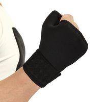 Coupeaux de genouils Tampons ajustables Sports de plein air Sports Demi doigts Flexibilité Main Palm Support Poignet Sécurité Sportswear Accessoires