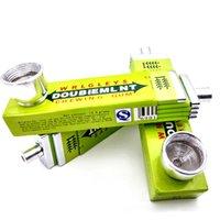 Mobile da masticare in stile Gum Metallo Dry Herb Mini Portatile in alluminio Tobacco Smoking Hidden Creativity Pipes ACCESSORI ACCESSORI