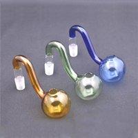 10mm 14mm 18mm de vidro masculino de vidro queimador tubulação colorido espesso de vidro de vidro fumar Adaptador de tigela para plataforma de petróleo