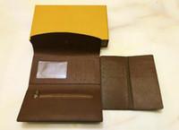 Mode 2 teile / satz Sarah Falte Brieftasche Die stilvollste Weise Tragen Sie um Geldkarten Münzen Leder Geldbörse Karteninhaber langer Business Wallet M33210