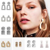 Vintage Legierung Metall Ohrringe für Frauen Mädchen Mode Tropfen Baumeln Ohrringe Hochzeit Anhänger Ohrringe Schmuck Beliebte Ohrring Geschenke 2021 Ins