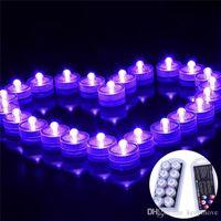 Unterwasser Nachtlichter LED Kerzenlichter Taucher Tee Licht Wasserdichte Kerze Unterwasser Tee Licht Unterlichter Batterie Für Hochzeitsfest
