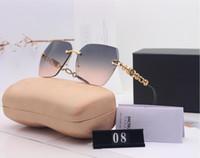 Nuevas gafas de sol diseñadas de marca de alta calidad para hombres y mujeres Gafas de sol de lujo UV400 Caja de juego
