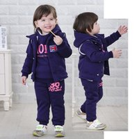 Clearance sale Winter baby suits baby tracksuit Infant tracksuit baby Sport Suit 3pcs set waistcoat+Sweater+pants Toddler Clothes Z281