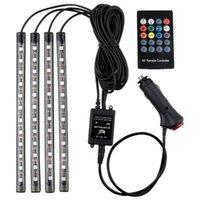 48LED 자동차 장식 조명 인테리어 분위기 USB / 담배 가벼운 원격 제어 음악을 가진 LED 스트립
