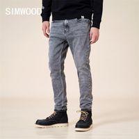 Simwood осень зима новая тонкая подходит джинсы мужчины серые классические джинсовые брюки высококачественные брюки уличные SJ130770 20111