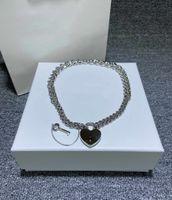 개인화 된 사랑 잠금 목걸이 연인 목걸이 키 + 잠금 펜던트 목걸이 심장 - 모양의 선물 선물